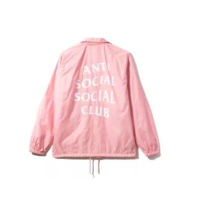 Anti Social Social Club FW La Cienega Coach Jacket Pink Windbreaker sz S ASSC