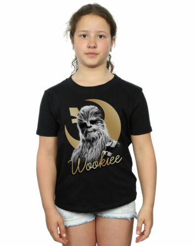 STAR WARS Filles le dernier Jedi Gold Chewbacca T-Shirt