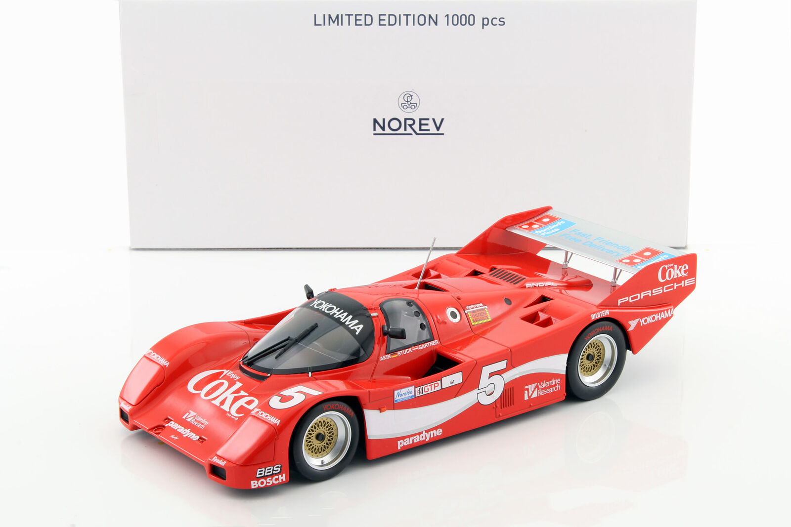 Porsche 962 IMSA  5 WINNER 12 H Sebring 1986 Akin, stuc, Gartner 1 18 Norev