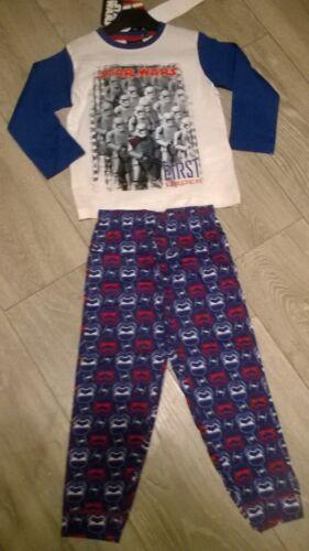 blue white Star Wars nightwear pyjamas sleepwear set NEW Boys /& Girls Age 4