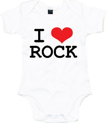 I LOVE ROCK Baby Body, weiß