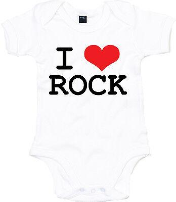 I LOVE ROCK Baby Body, weiß
