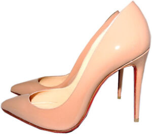 0914236877a Details about Christian Louboutin Nude Patent Leather Pigalle Pointed Toe  Pump Shoes 38