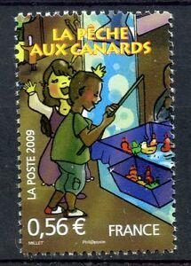 STAMP-TIMBRE-FRANCE-N-4383-LA-FETE-FORAINE-LA-PECHE-AUX-CANARDS