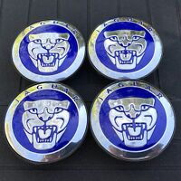 Jaguar (set Of 4) 59mm Blue Wheel Center Caps C2d9611 Wc4pc583