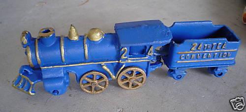 RARE Cast Iron TCA Convention Locomotive and Tender
