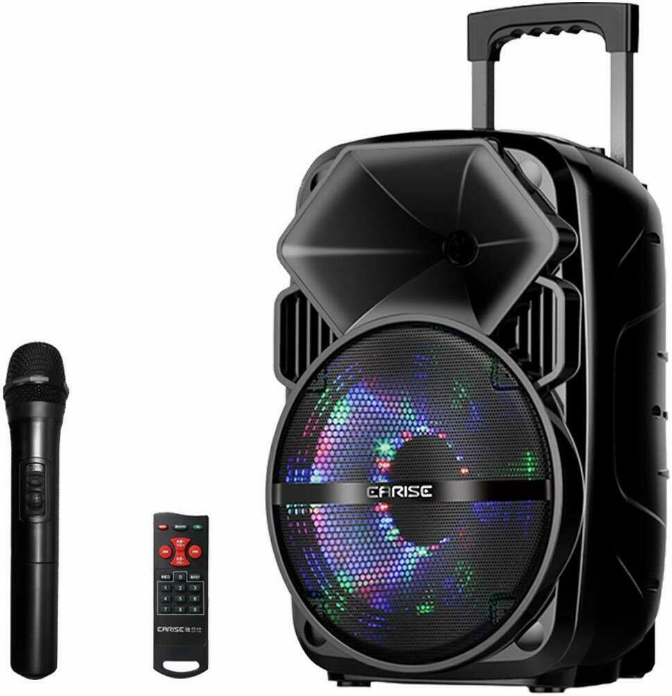 EARISE Blautooth PA Speaker System with Wireless Microphone, Portable Outdoor Ka