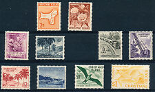 CHRISTMAS ISLAND 1963 DEFINITIVES SG11/20  MNH