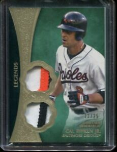 2019 Topps Tier One Dual Relics Cal Ripken Baltimore Orioles NICE PATCH 13/25