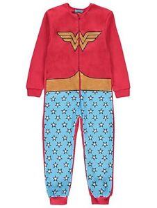 DC-COMICS-WONDER-WOMAN-pyjama-tout-en-un-Avec-Detachable-Cape-Taille-4-14-An