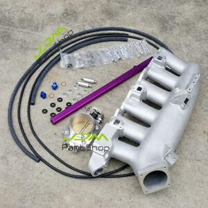for-Nissan-R32-R33-RB25DET-Cast-Intake-Manifold-Fuel-Rail-80mm-Throttle-Body