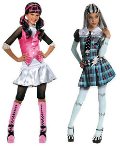 Monster-High-Girl-039-s-Halloween-Costume-Size-Medium-Draculaura-or-Frankie-Stein