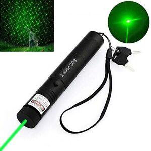 Gold 532nm 303 Green Laser Pointer Lazer Pen Adjustable Visible Beam 1MW Battery
