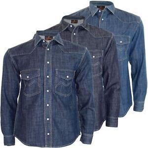 9e9bb78cc31 Best Men Denim Shirt Double Chest Pocket Long Sleeve Collar Cotton ...