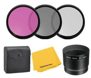 1A Multicoated for Canon Powershot G12 Multithreaded Glass Filter UV Includes Lens Adapter Haze 58mm