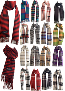 Winter-Womens-Mens-100-Cashmere-Wool-Wrap-Scarf-Made-in-Scotland-Color-Scarves