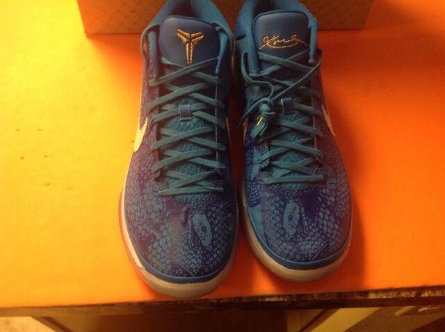069c7e1ab33cc Nike Kobe AD PE Demar Derozan Basketball Shoes Blue Gold AQ2721-900 Men s Sz  14