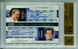 PEYTON-MANNING-ELI-MANNING-2004-UD-Foundations-Dual-Rookie-RC-Auto-SP-BGS-9-5-10