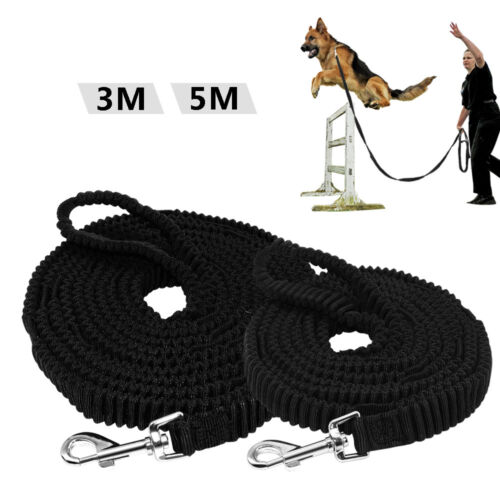 Long Dog Training Leash Strong Shock Absorber Elastic Bungee Tracking Leash 3//5M