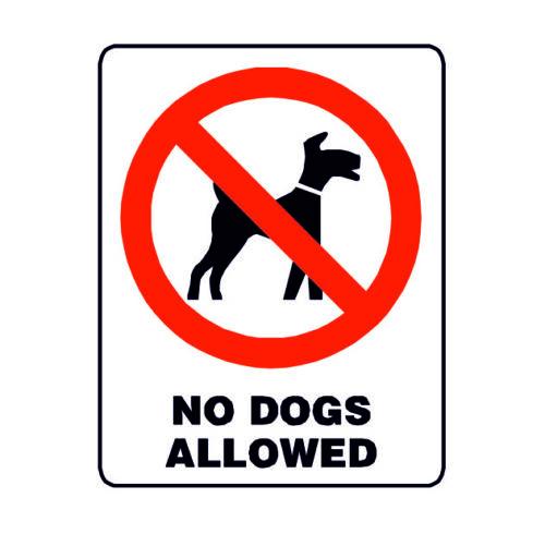 Chiens interdits warning signal de sécurité Style Vintage Métal Plaque Murale Signe