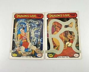 1983-Fleer-Dragons-Lair-Complete-Scratch-Off-Card-Game-Lot-Of-2