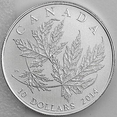 Maple Leaf 2018 Pure Silver Coin $10-1//2 oz
