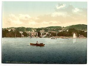 7 Victorien Paysages Windermere Lake Région Bowness Langdale Pikes Ancienne