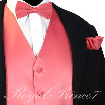 Men/'s Turquoise Vest Waistcoat and Straight Cut Bow Tie Suit or Tuxedo Wedding