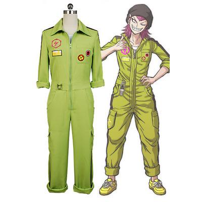 Danganronpa Biker Gang Mondo Owada Cosplay Costume Uniform Overcoat Pants Outfit