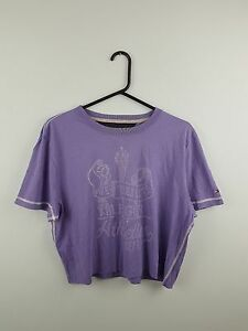 d5929f457 Image is loading VTG-RETRO-TOMMY-HILFIGER-PURPLE-ATHLETIC-REWORKED-SPORTS-