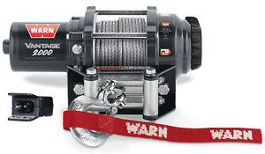Warn ATV Vantage 2000 Winch wMount Polaris Sportsman 800 05-10