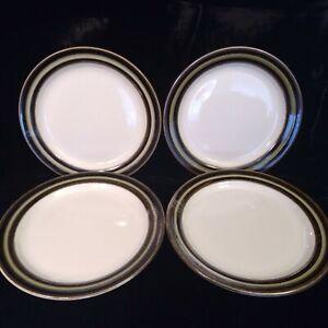 "Mid-Century Modern Arabia Finland  KARELIA Lot of 4 Salad Plates 8"" Inch Vintage"
