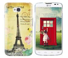 Hülle f LG L70 D320 Schutz Case Cover Tasche Bumper Silikon TPU Paris Eiffelturm