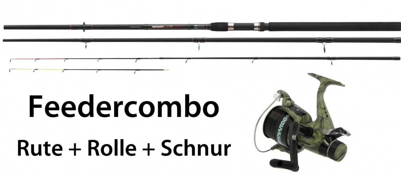 Feedercombo feederrute feederrute feederrute 3,30m 30-90g + aperto ruolo + filo pesca 684689
