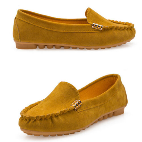 Womens Ladies Ballerina Ballet Dolly Pumps Slip On Flat Boat Loafers Shoes Size