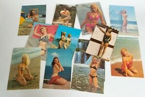 Girls-swimsuits-postcards-pin-up-1960s-Egypt-USA-Italy-France
