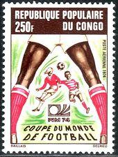 SELLOS DEPORTES FUTBOL. CONGO 1974 A-188 COPA DEL MUNDO MUNICH 74 1v
