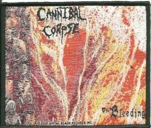 CANNIBAL-CORPSE-bleeding-2001-WOVEN-SEW-ON-PATCH-official-no-longer-made