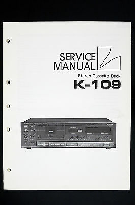 luxman k-109 original stereo cassette deck service manual/wiring ...  ebay