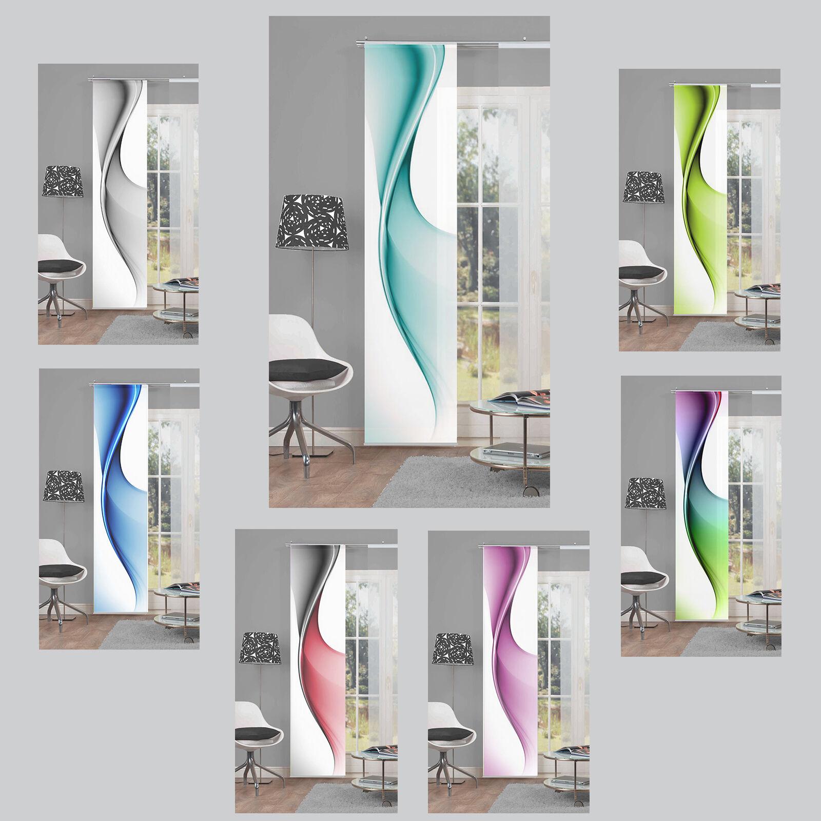 bristol welle graphisch abstrakt schiebevorhang raumteiler digital home wohnidee ebay. Black Bedroom Furniture Sets. Home Design Ideas