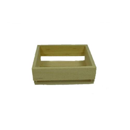 # Kim 39035 frutas caja plana naturaleza 4x4x1,5 cm madera 1:12 para casa de muñecas nuevo