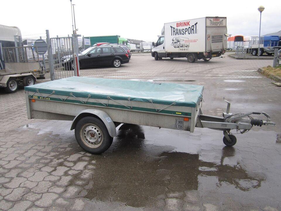 Trailer Euro 900- 260 med Bremser, lastevne (kg): Euro 900-