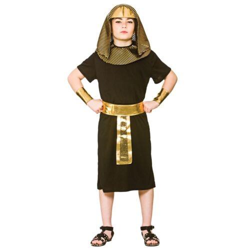 Ragazzi Re Egiziano Antico Recita Scolastica Faraone Costume Libro Settimana età 5-10