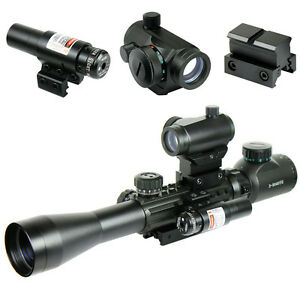 3-9X40-Illuminated-Tactical-Rifle-Scope-with-Red-Laser-amp-5-MOA-Dot-Sight