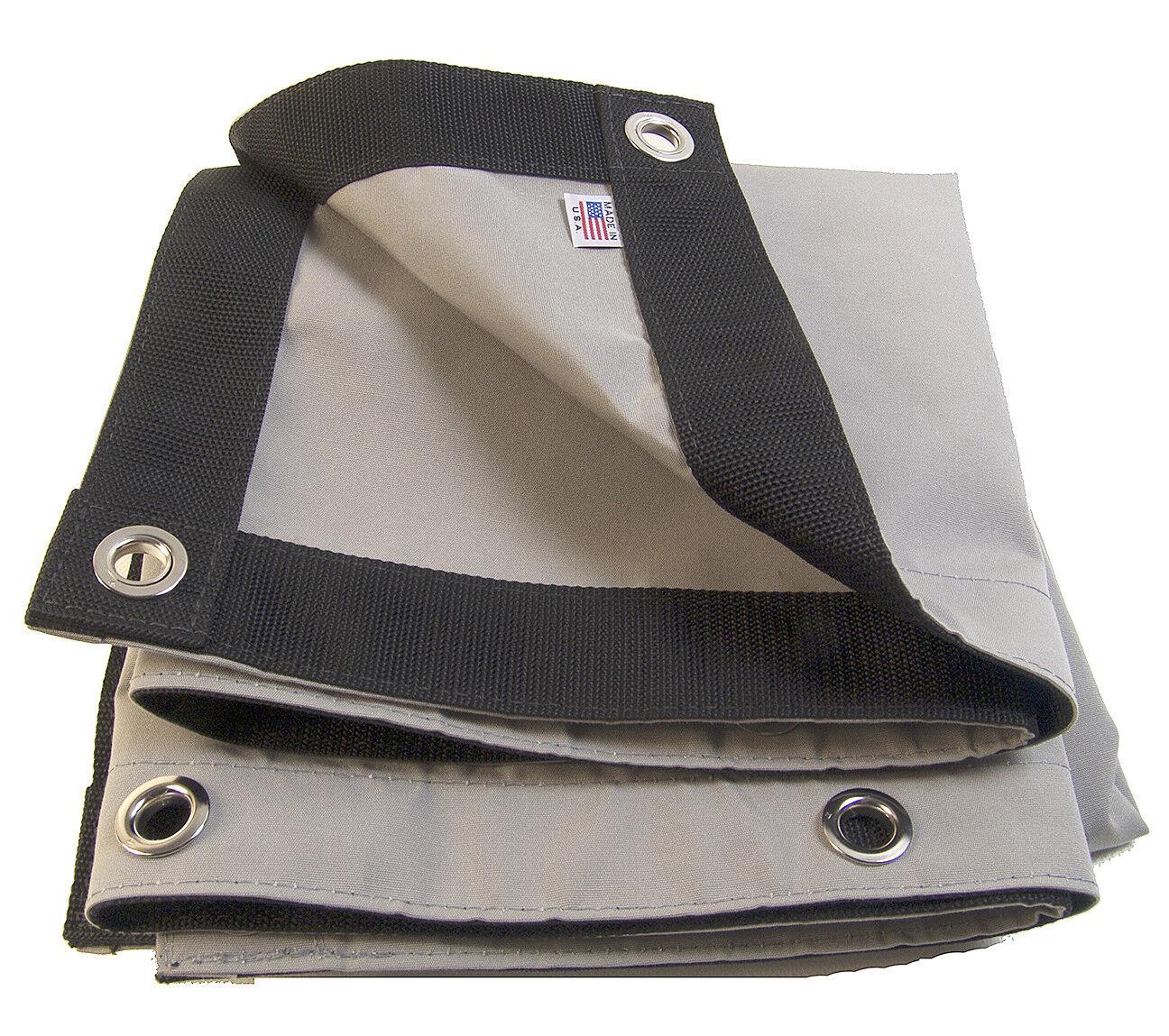 Sunbrella Lona, Cadete gris   6030 con  4 borde laminado Espuela Ojales, 9 16
