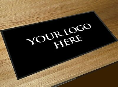 Personalised with your logo bar runner pub restaurant Bar Shop counter mat