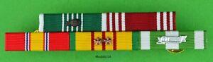 5-Ribbon-Bar-Vietnam-War-Army-Commendation-amp-Good-Conduct-2-Campaign-Stars