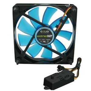 Fan For Case PC 120mm Gelid Wing 12 Blue Fan 120 120 x 25 UV + RPM Controller