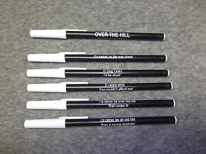 Personalized HAPPY 60th OVER-THE-HILL party favor fun pens