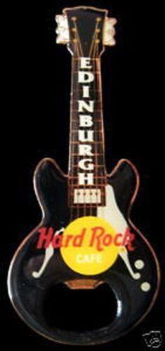 Hard Rock Cafe EDINBURGH Bottle Opener Guitar Magnet